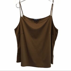Brown Encore camisole size 100% polyester